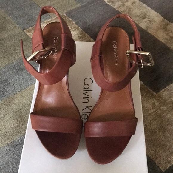 Calvin Klein Shoes - Calvin Klein Leather/Cork Platforms